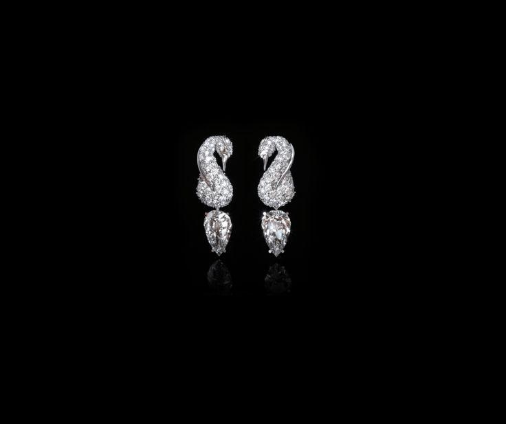 Odette Earrings  #swanlake #earrings #whitegold #diamonds