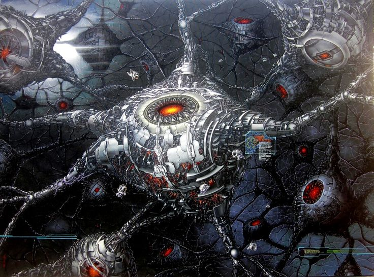 Brain #acryliconcanvas #TriWahono #painting #future