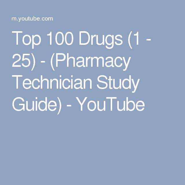 Study guide of drug classes