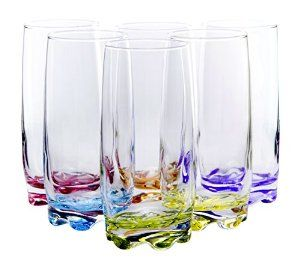 Vibrant Splash Water/Beverage Highball Glasses, 13.25 Ounce - Set of 6 - Visit to see more options