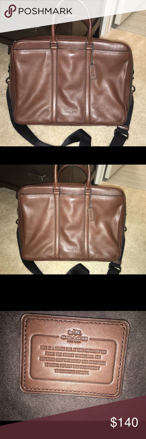 Authentic Coach Briefcase Like New! Authentic Coach Briefcase/Messenger bag. Was gifted, but I don't bring my work home with me. Originally priced at $395 in store. Awesome condition, I've used maybe a handful of times. Smoke free home. Ready to ship. Same day or next business day shipping. *be respectful with offers as Poshmark takes 20%* TIA Coach Bags Laptop Bags