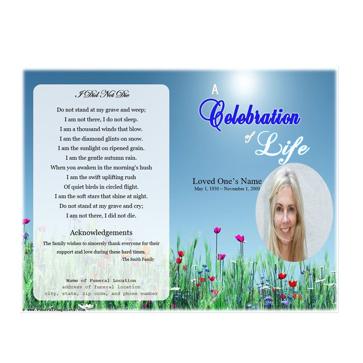 20 best Ideas for the House images on Pinterest Funeral ideas - funeral programs templates free download