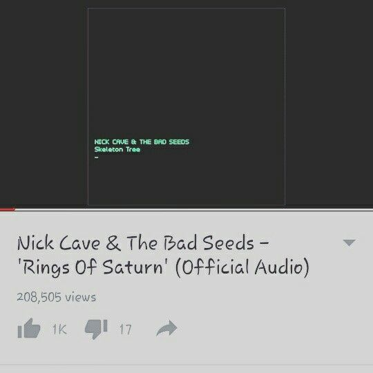 "Nick Cave and the Bad Seeds - ""Rings of Saturn"""