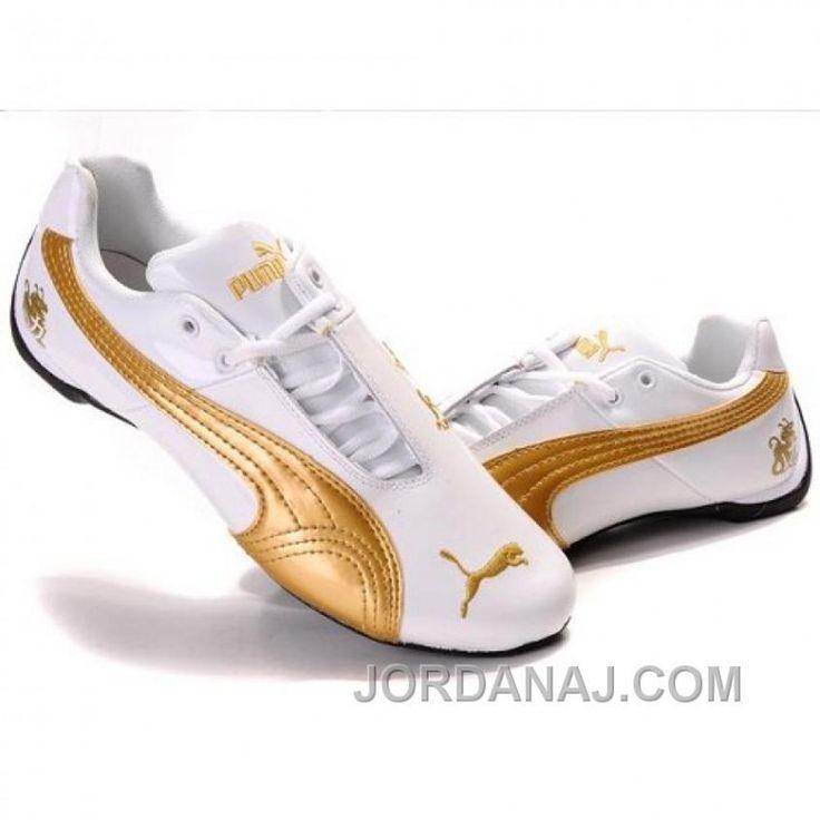 d57a17c8655e5 New Men  039 s Puma Michael Schumacher White Golden Lastest