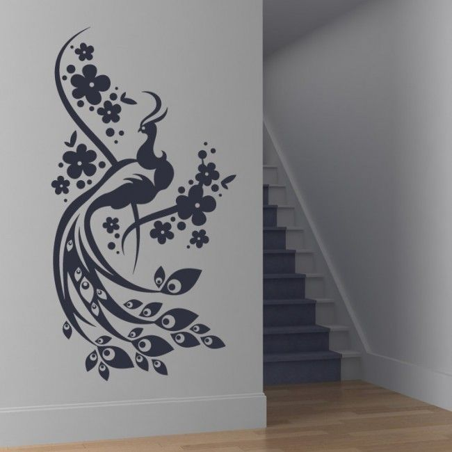 Floral Peacock Wall Sticker. Peacocks Are Considered Royal Birds And Have  Always Been The Center Part 88