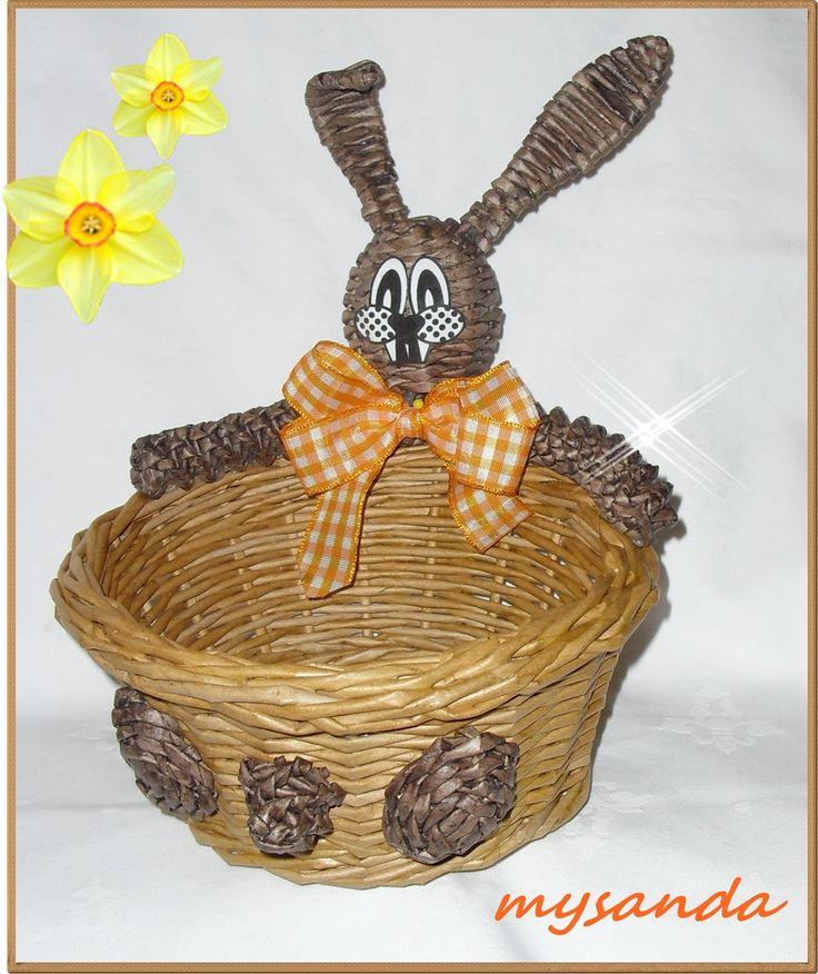 moje tvořeníčko - Fotoalbum - PLETENÍ Z PAPÍRU 2011 - Velikonoční pletení 2011