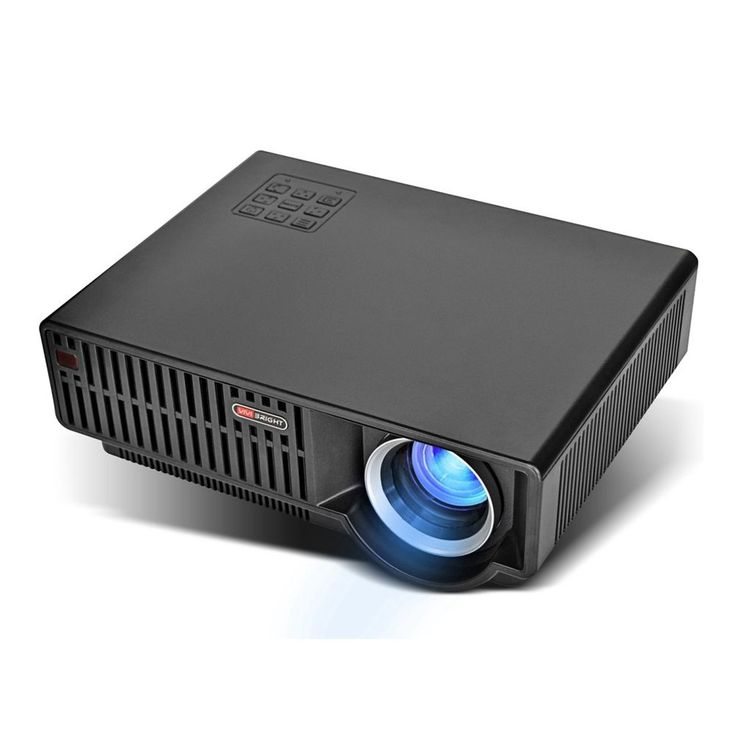Home Theater LED Projektor C90 3500LM 1280x800 HD HDMI USB VGA mit Lautsprecher