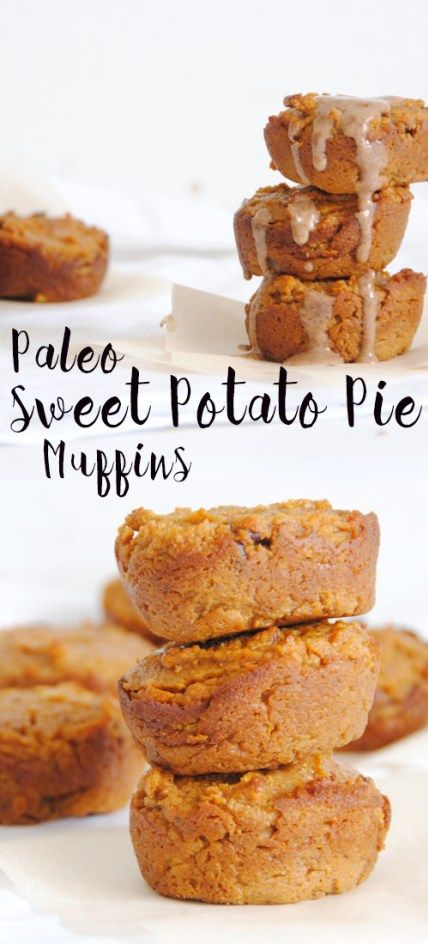 Paleo Sweet Potato Pie Muffins