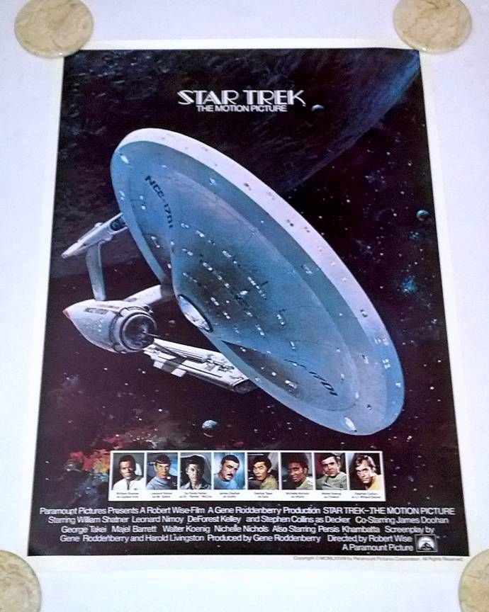 Star Trek The Motion Picture Enterprise Promo Poster '78 Shatner Nimoy Berkey