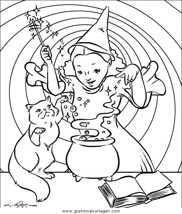 Coloring Pages For Halloween Witches : 271 best witch coloring images on pinterest