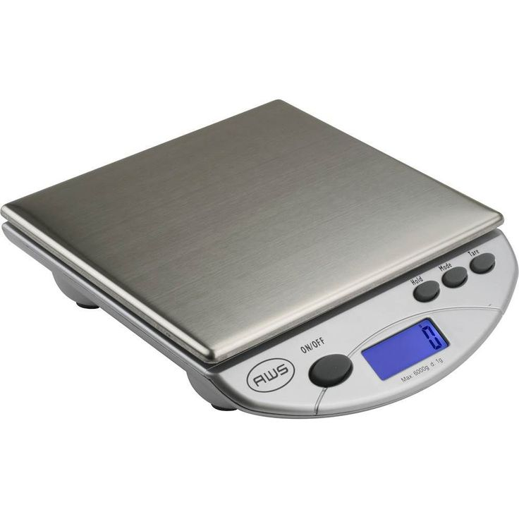 American Weigh Scales - Digital Kitchen Scale - Silver