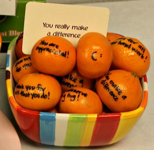 Clementines with sharpie message                                                                                                                                                                                 More