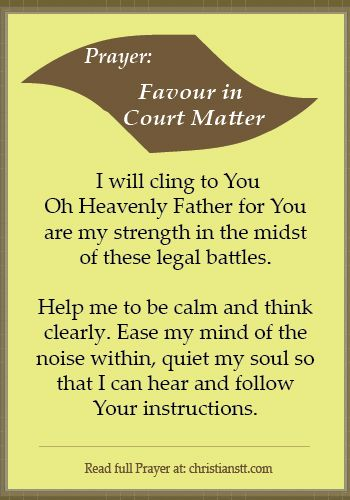 Prayer for Favour for those involved in Court Matters (Legal Battles) -  Psalm 84:11 For the Lord God is a sun and shield; the Lord bestows favor and honor. No good thing does he withhold from those who walk uprightly.