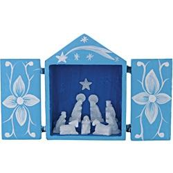 Carved Alabaster Nativity - Retablo