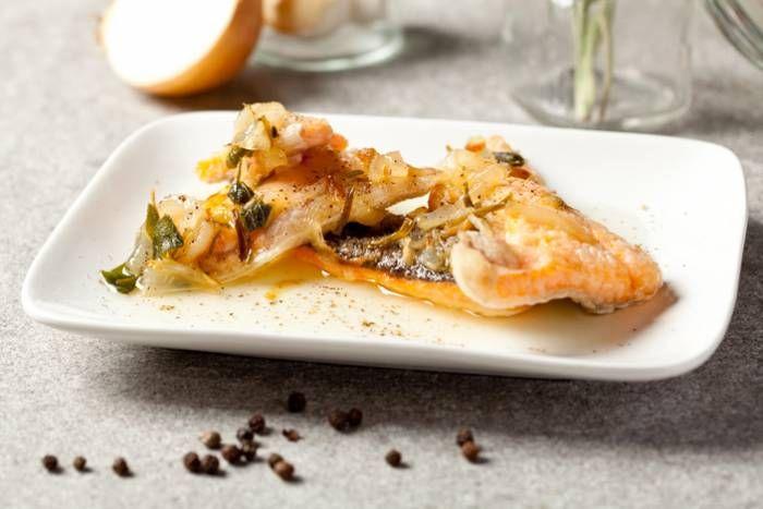 Filetti di trota salmonata in carpione #Star #ricette #filetti #trota #salmonata #carpione #food #recipes
