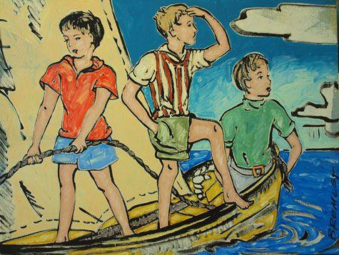 David Bromley - Children in Boat | chezjoyeux.com