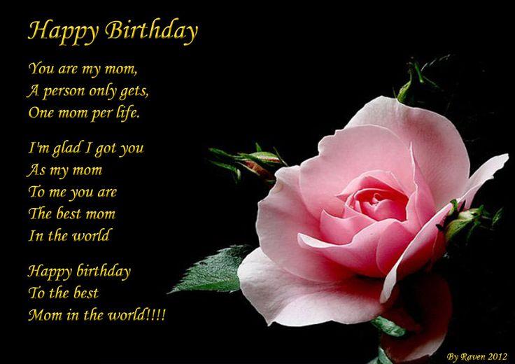 Happy Birthday Mother Poems Happy Birthday Mom Poems