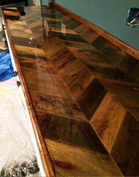 25 best ideas about pallet countertop on pinterest wood. Black Bedroom Furniture Sets. Home Design Ideas