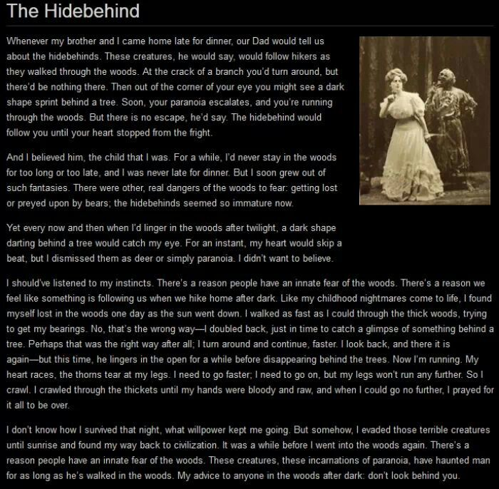 The Hidebehind
