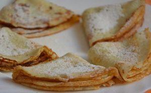 Фото к рецепту: Тонкие блинчики на кефире и кипятке