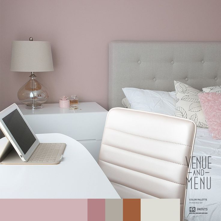 "Sophisticated Pink Bedroom - Thinking about a new look for a bedroom? Consider the in-vogue color""du jour""; a sophisticated soft pink. This tender hue is not only very trendy, it makes everything look pretty."