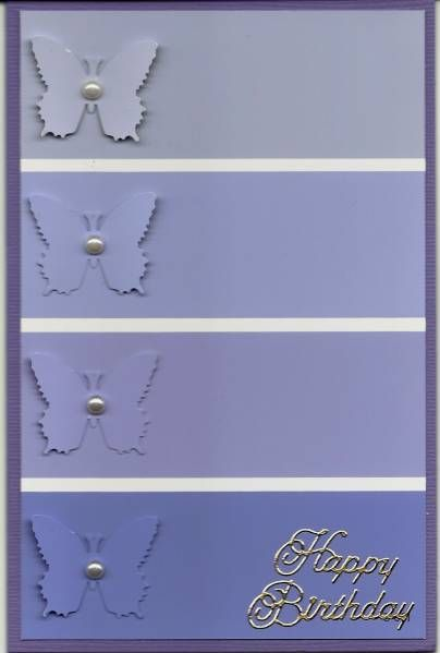 Butterfly : paint chip card