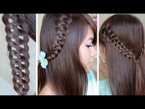 4-Strand Slide-Up Braid Hairstyle Hair Tutorial ~ I love this braid!! It's so easy and quick to do and everyone's always asking 'how do you do that?!' :)