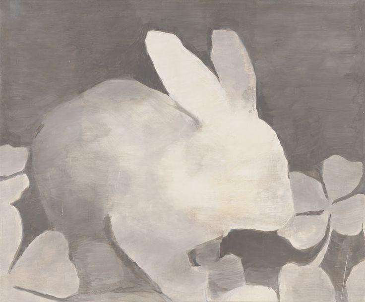 Luc Tuymans. Rétrospective : 24.Luc Tuymans, The Rabbit, 1994; oil on canvas; 23 ¼ x 28 1/8 in. (59,3 x 71,5 cm); Private collection, courtesy Hauser & Wirth, Zurich / London © Luc Tuymans; photo: courtesy David Zwirner, New York