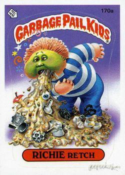 GARBAGE PAIL KIDS - Original Series 5 Card Collection — Richie Retch