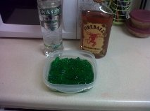 Cinnamon Apple Gummy Bears  Green Apple Smirnoff/Fireball Whiskey/Green Gummy Bears  Perfect for St. Patty's Day