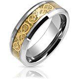 [ブリング・ジュエリー] Bling Jewelry ドラゴン 竜 タングステン製 指輪 リング 結婚指輪 金 銀 ゴールド シルバー [インポート]