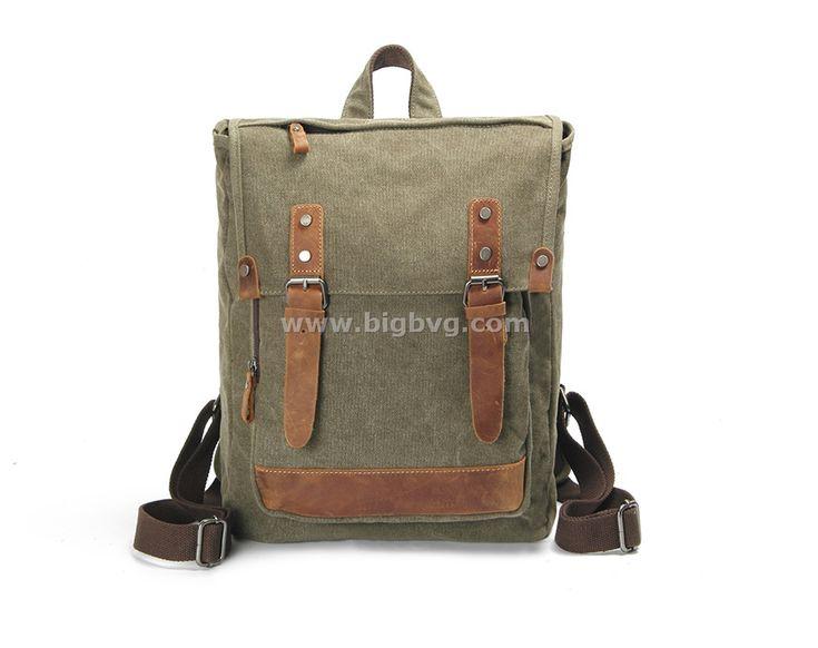 Bvg Canvas Bag Laptop Backpack Outdoor Rucksack