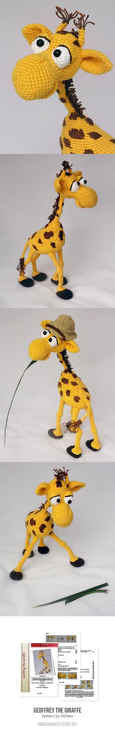 Found at Amigurumipatterns.net Geoffrey by Ildikko $6.20