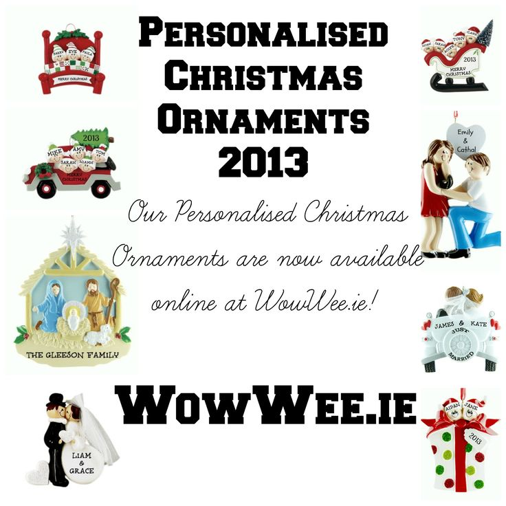 Personalised Christmas Ornaments now available online at WowWee.ie!!!