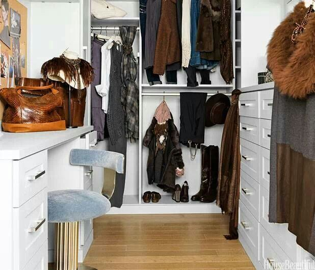 Simple walk-in closet. Just right