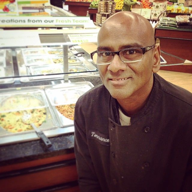 Terrance is one of our amazing chefs at #naturesnewmarket. Swing by the hot tables section and try some of his delicious dishes! #organic #nongmo #cleaneating #vegetarian #vegan #chef #ourpeople #naturesemporium