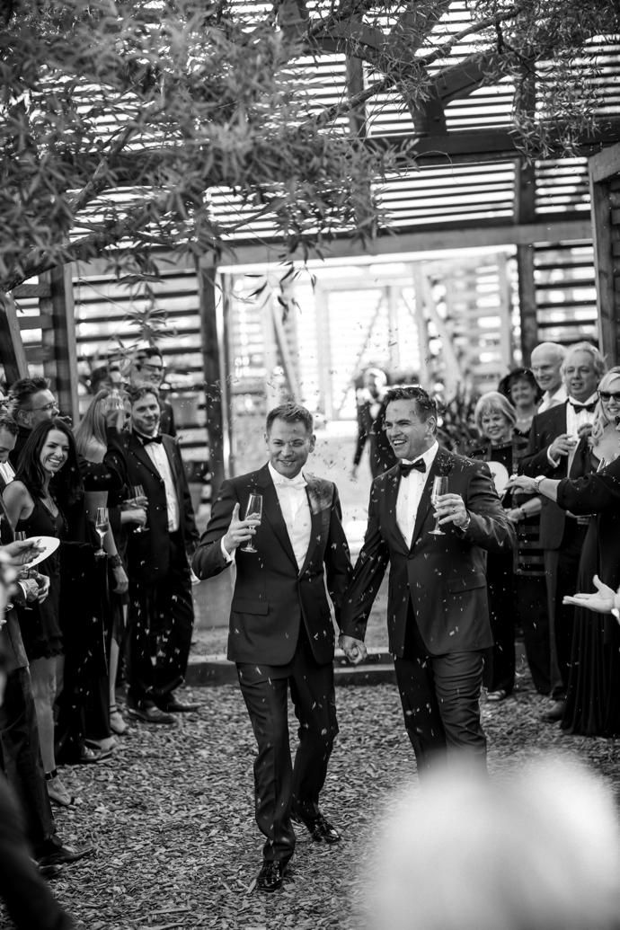 Jan Hendrik van der Westhuizen, chef and proprietor of Michelin-star restaurant JAN in Nice, recently tied the knot with his beau Grant Bacon on home soil.