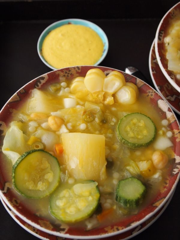 Probably one of my favorite soups as a child is Cazuela. Super delicious and full of vegetables.