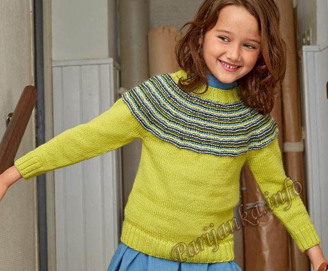 Пуловер со вставкой (д) 02*180 Bergere de France №4861