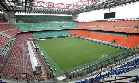 The San Siro Stadium, Milan, Milano Italy Home of Internazionale and AC Milan