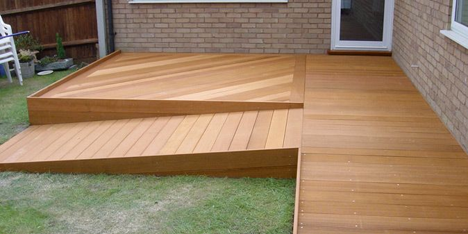 Raised Decking with Ramp