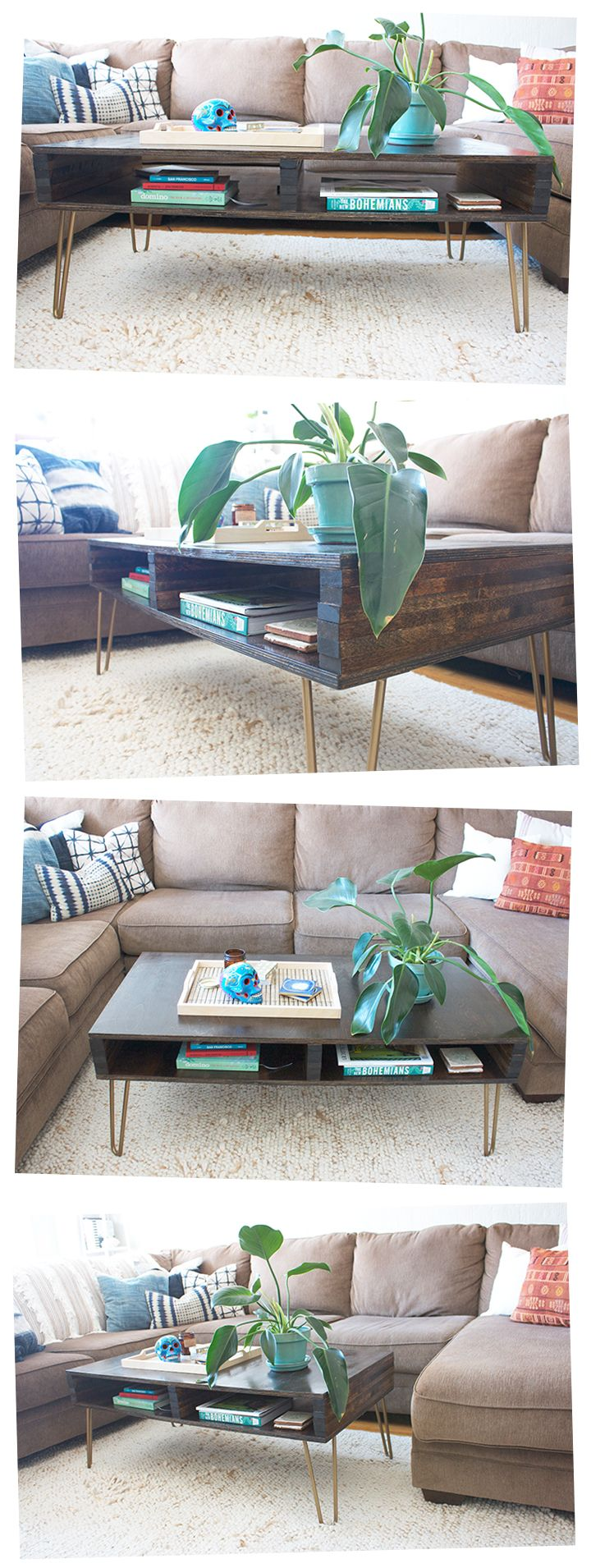 DIY Hairpin Leg Coffee Table