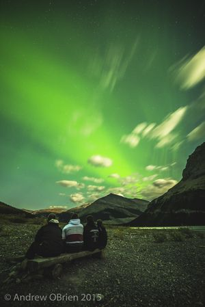 Berg lake aurora, mount Robson BC