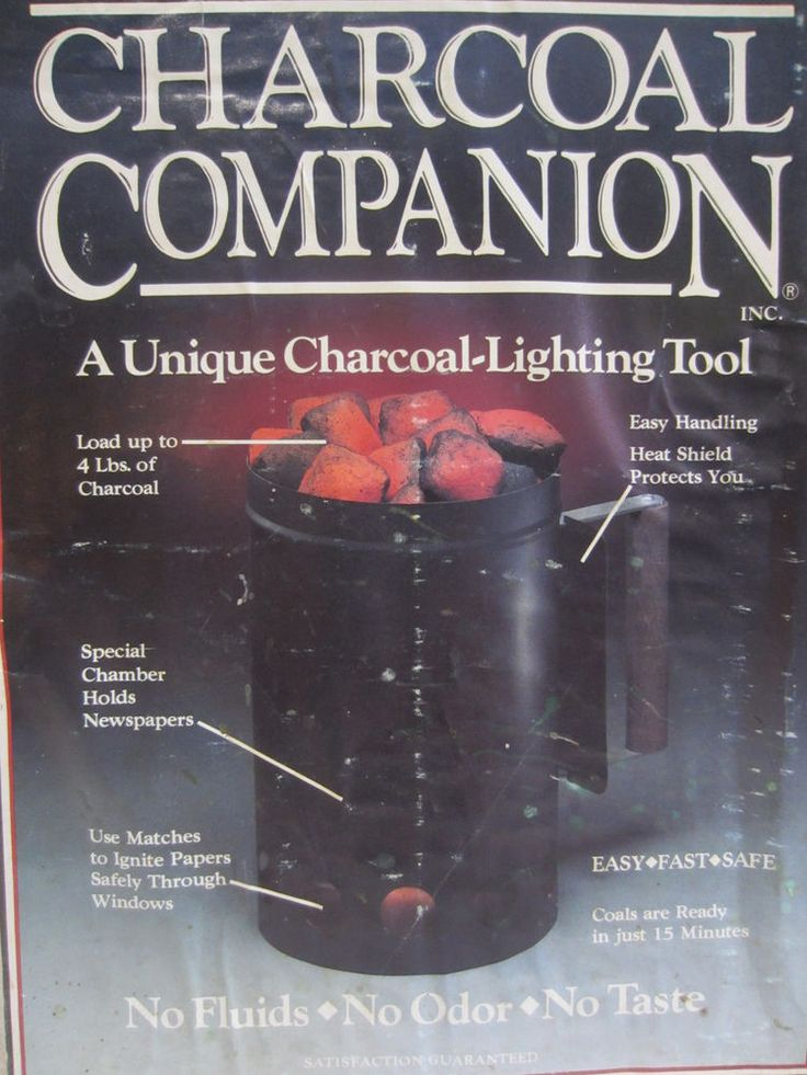Charcoal Companion Unique Chimney Charcoal Starter~Coals Ready In 15 Minutes! #CharcoalCompanion