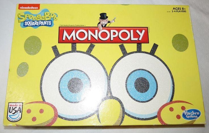 Monopoly Nickelodeon SpongeBob Squarepants Hasbro box board game Pre Owned #Hasbro
