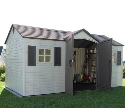 lifetime 15ft wide x 8ft deep prestige single entrance garden shed this lifetime shed is