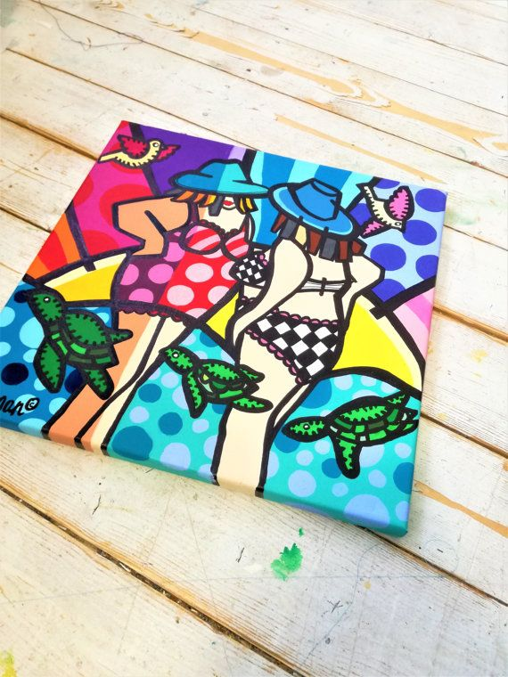 Fat Ladies Art, Colorful Fat Ladies , Pop Art, Pop Art Painting, Fat Ladies Pop Art ,Fat Ladies Painting, Neo Pop Art, Original Painting Fat Ladies Art Colorful Fat Ladies  Pop Art Pop by MevrouwHartman
