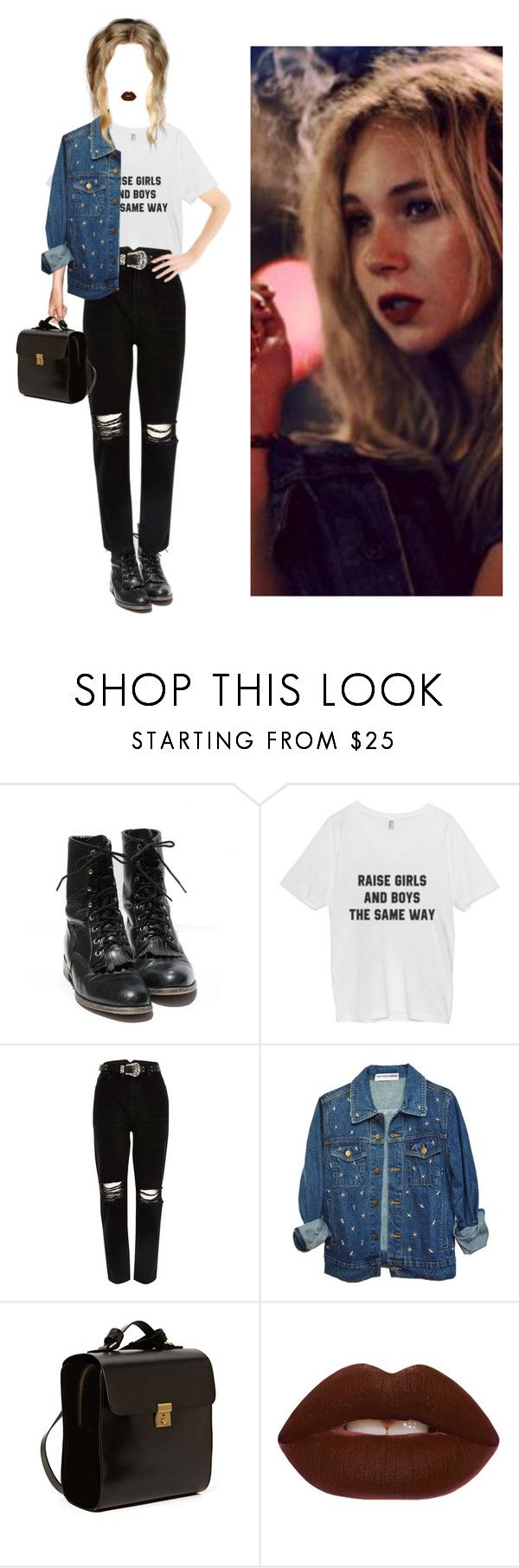 """""""something great"""" by meghanrmorris ❤ liked on Polyvore featuring River Island, Kelsi Dagger Brooklyn and Lime Crime"""