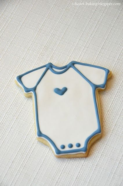 simple baby shower onesie cookies
