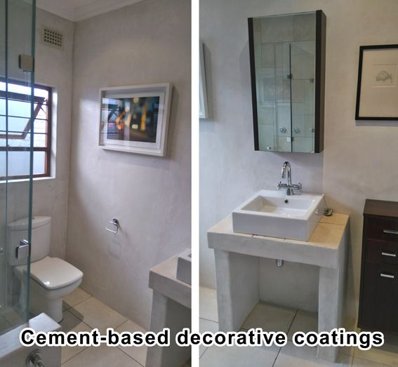 Cement-based decorative coatings by Happy Handyman